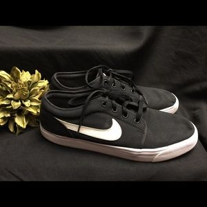 Nike Sneaker-Black with White-Size: 12